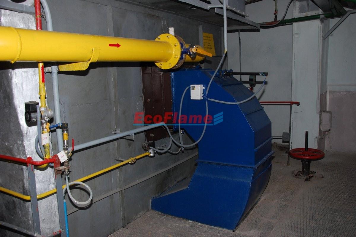Високоефективний газовий пальник МДП-2000-Г на котлі КВГМ-20